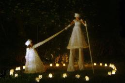 Cinzia Fossati | costumes | stilts show | Sonnenflammen