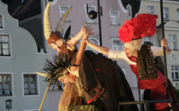 Cinzia Fossati | costumes | Rheingold | die Stelzer | Stiltwalkers