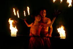 Cinzia Fossati | costumes | fire show | Sonnenflammen