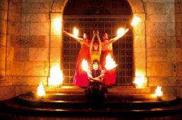 Cinzia Fossati   costumes   fire show   Sonnenflammen